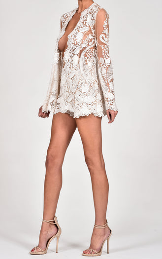 Roma Short Suit in Ivory