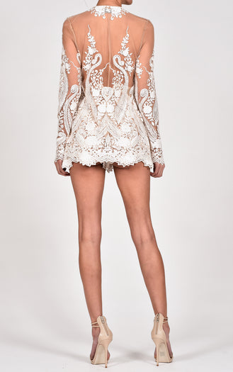 Roma Shorts Suit in Ivory