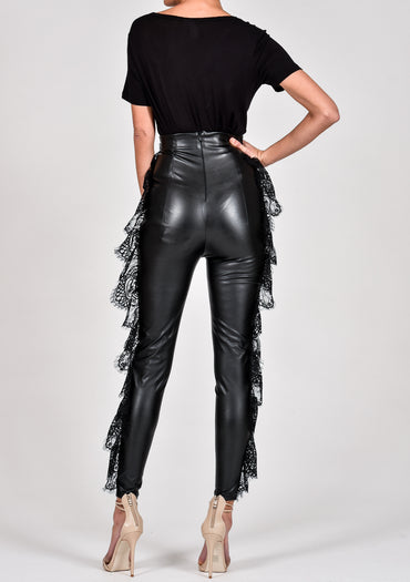 Nikita Leggings in Black Leather look