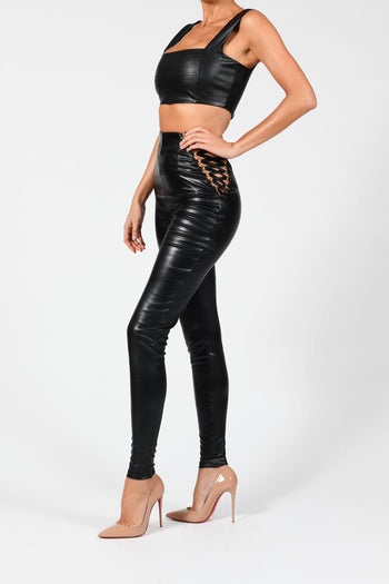 Cara Leather Trousers