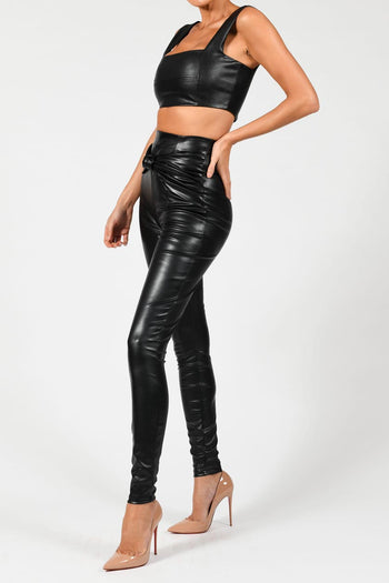 Nina Knot Leather Trousers