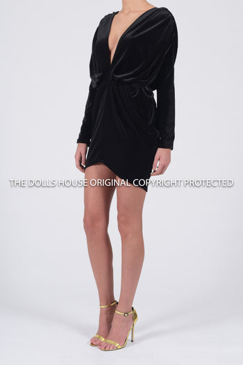 Sophia Luxe Dress in Black