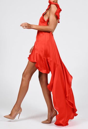 Krista Dress in Candy Apple Red