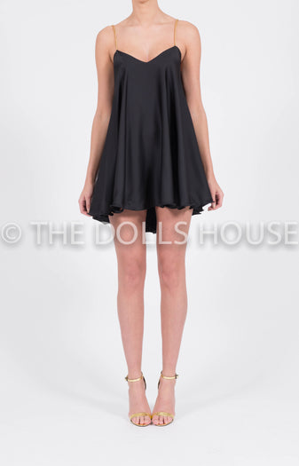Chemise Swing Dress in Black