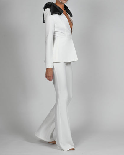 Beau Jacket and Flares Suit in Ivory