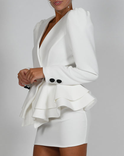 Libby Jacket and Mini Skirt in Ivory
