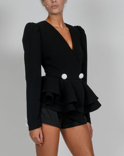 Libby Jacket and Shorts in Black