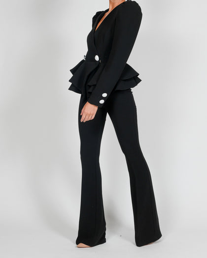 Libby Jacket and Flares In Black