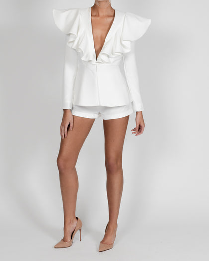 Lauren Jacket and Short Suit in Ivory