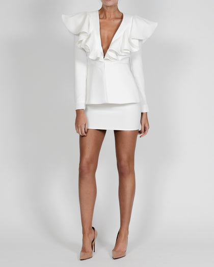 Lauren Jacket and Mini Skirt in Ivory