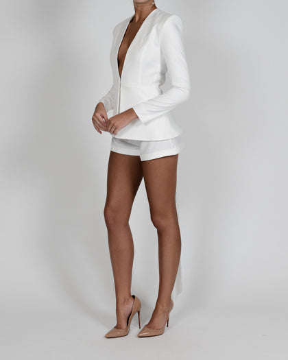 Chloe Jacket and Short Suit in Ivory