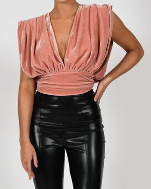 Yasmin Top in Rose Velvet