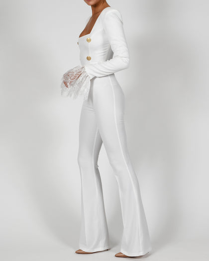 Stephanie Jumpsuit in Ivory
