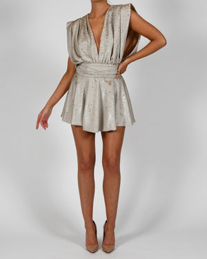 Yasmin Dress in Cream Sequin