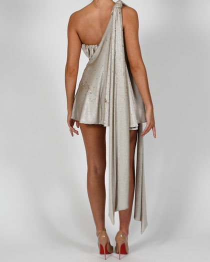 Anthia Dress in Cream Sequin