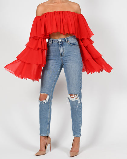Madonna Top in Red