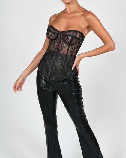 Evangeline Corset in Black Lace