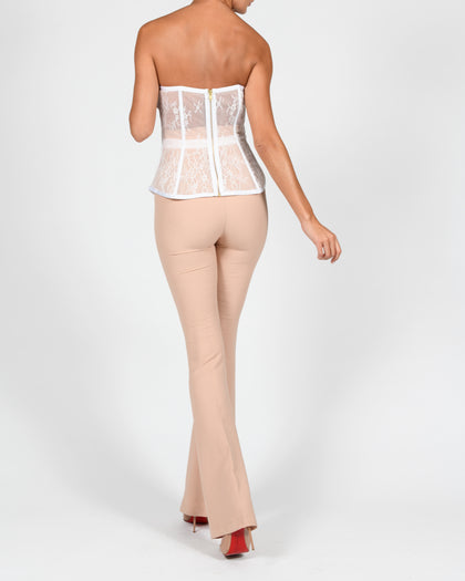 Evangeline Corset in White Lace