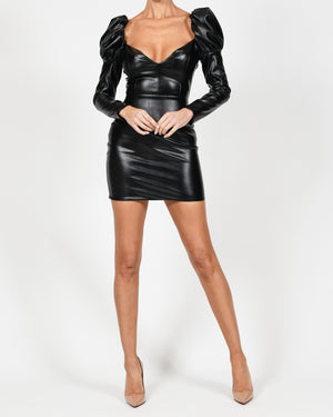 Carla Dress In Black Leather