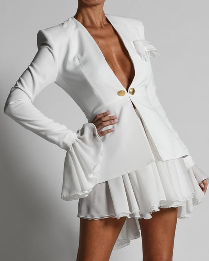 Harri Dress in Ivory