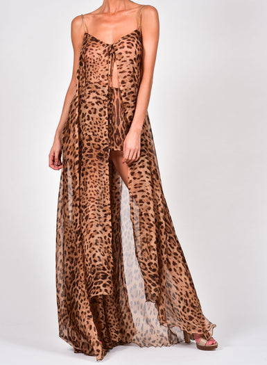 Alexi Maxi Set in Leopard Silk