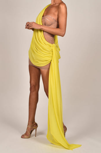 Clio Dress in Yellow