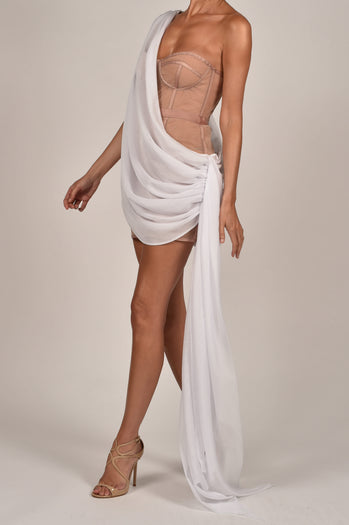 Clio Dress in White