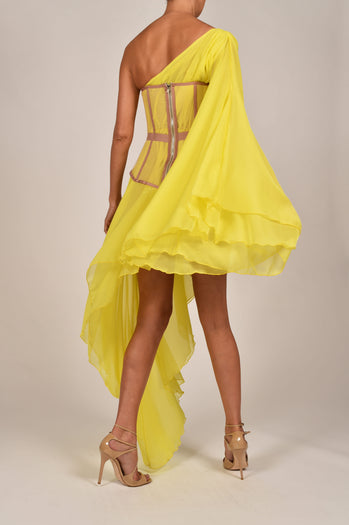 Evangeline Dress in Yellow