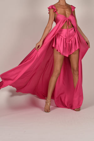 Krista Kaftan and Shorts in Pink
