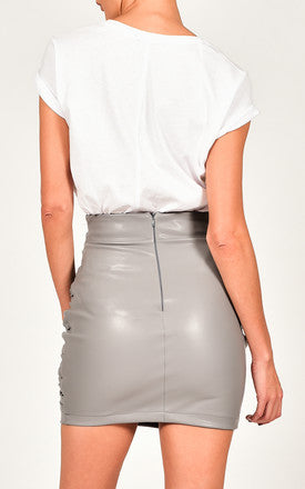 Nina Mini Skirt in Grey