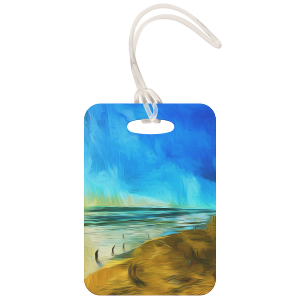 """Waves and Blends"" Luggage Tag"