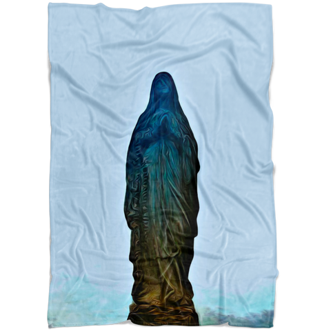 """Our Lady of Longing"" Fleece Blanket"