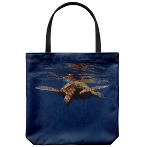 Cerulean Drift Large Tote Bag