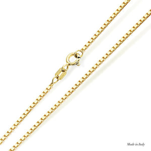 9K Yellow Gold Box Chain