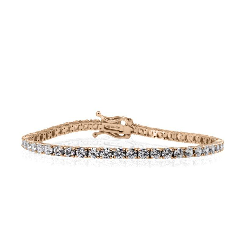5ct. eq. Round Brilliant Tennis Bracelet