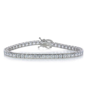Princess Channel Set Tennis Bracelet