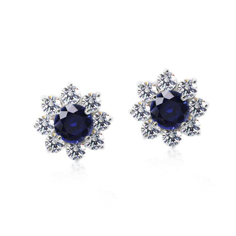 Round Cluster in Sapphire