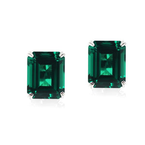 Fulton Emerald Double Prong Studs