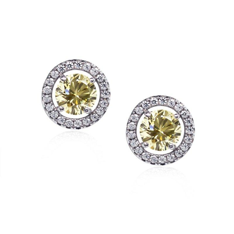 Classic Border Set Studs in Fancy Yellow