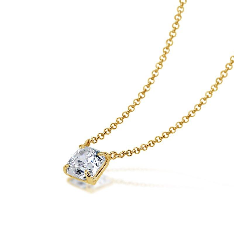 Flanders Solitaire Pendant Yellow Gold