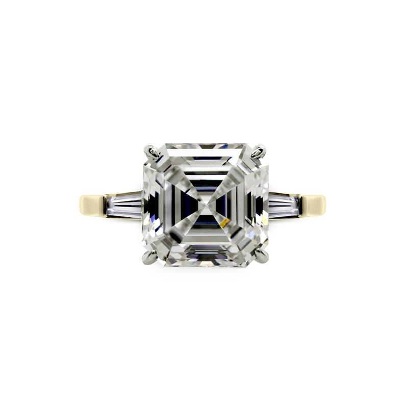 Baguette Asscher Solitaire Yellow Gold