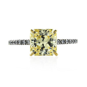 Solitaire Princess Microset Fancy Yellow