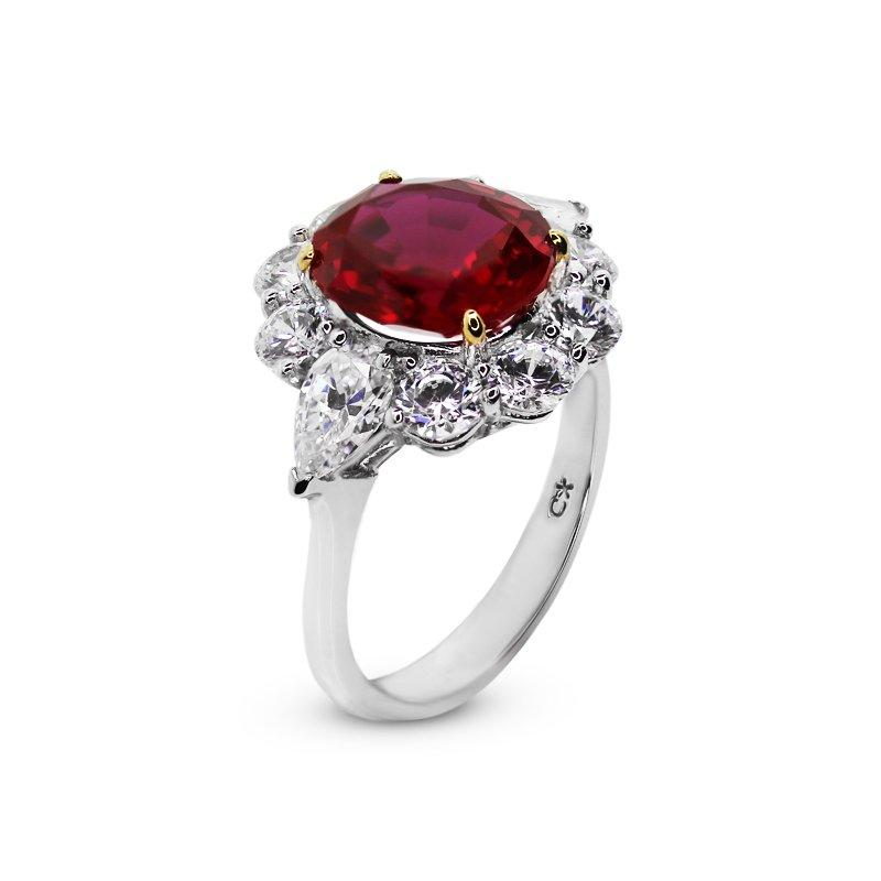 Carmine Oval Cluster in Ruby