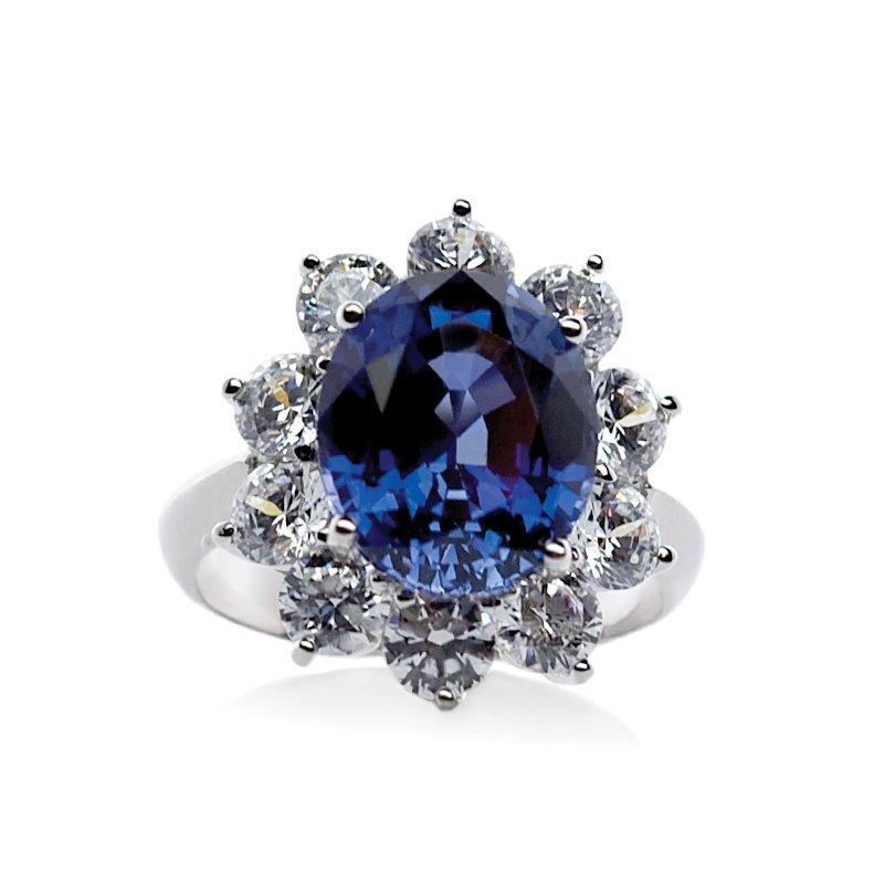 Sapphire of Fire White Gold