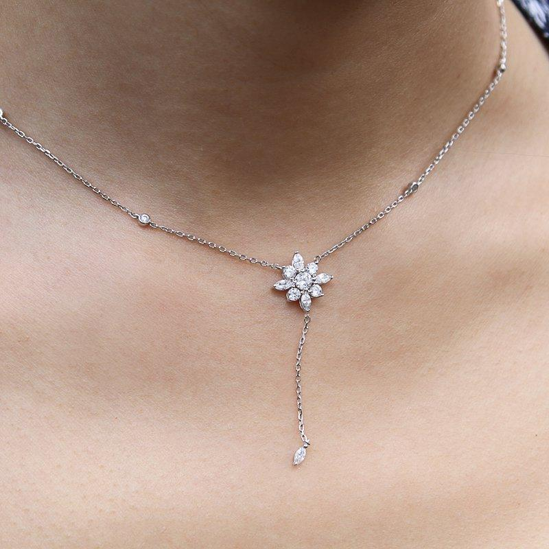 Camelia Drop Necklace