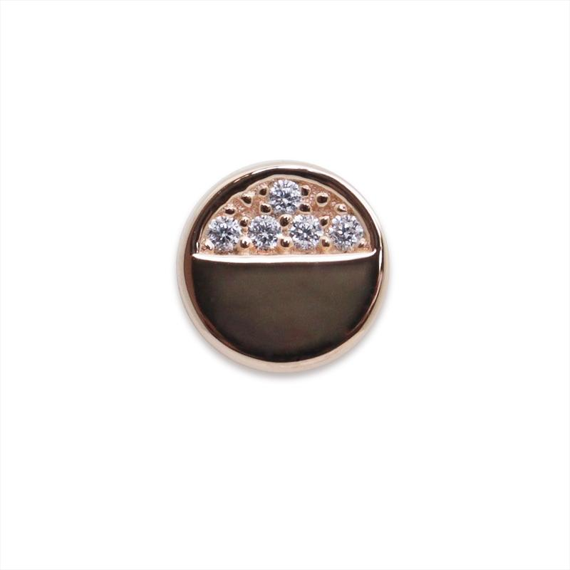 Sterling Silver Stud earring - rose gold plated