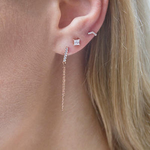 Xena Drop Earring in Rose Gold