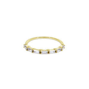 9K Yellow Gold Half Eternity Band Ring