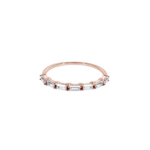 9K Rose Gold Half Eternity Band Ring