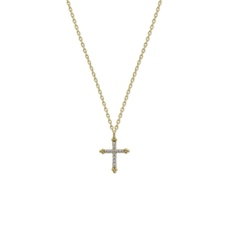 9K Yellow Gold Necklace - Cross Design
